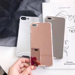 Funda de la PC del espejo de galvanoplatos que electroplating CHROME Ultrathin Teléfono con la cubierta de la PC resistente a los gotas para iPhone XR x Max 12 Pro para Samsung