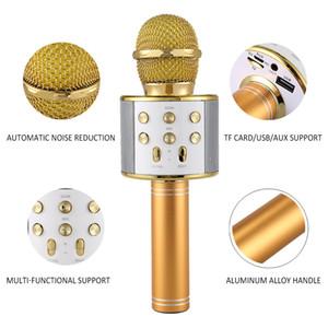 المهنية بلوتوث اللاسلكية ميكروفون المتحدث يده ميكروفون كاريوكي ميكروفون مشغل موسيقى غناء مسجل KTV ميكروفون الأزياء