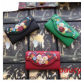 Hot Sale Fashion Wallet Women Leather Black green red Wallet Ladies handbag Card Holder Girls Coin Purse Female Wallets