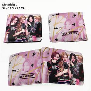 Kpop BlackPink Lisa Rose portefeuille Jennie Jisoo Pu Garçons Filles Coin poche zippée court Bifold Carte photo Porte-couches Porte-monnaie en cuir