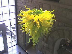 Favoloso catena Chihuly Stile basso soffitto lampadario a sospensione in vetro Lampade Arte Contemporanea soffitto Chandelier Light Fixtures
