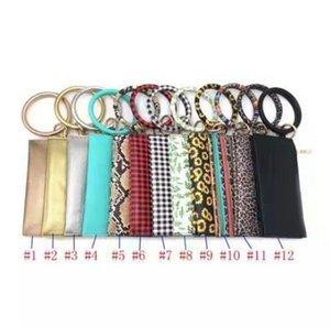 Buffalo Plaid Bangle Bracelet porte-clés Porte-clés Porte-monnaie Pour Femme Ronde Bracelet Porte-clés OOA7367-6