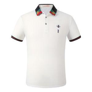NeuDesigner-Poloshirt Herren Luxus klassisches Polo lässig Herren T-Shirt Schlange Honig Alphabet Druck Stickerei Polo-Shirt