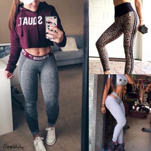 Calças Moda Leopard Impresso Push Up Leggings Mulheres Workout Leggings Magro Leggings de poliéster de alta cintura Jeggings Mulheres lápis