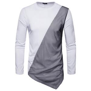Pop2019 Esperto di commercio estero per modello Grid obliquo pendolo uomo maglione pullover di colore solido F258