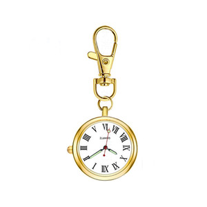 Classic FOB Pocket Watch Nurse Watches Key Chain Student for Examination Gold Medical Gift for Hospital Doctor Dropshipping