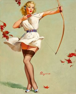 Gil Elvgren Pin Up Girls 09 Home Decor Handcrafts / HD печать живопись маслом на холсте Wall Art Canvas Pictures 200215