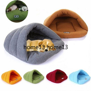 Soft Fleece Winter Warm Pet Dog Bed 4 different size Small Dog Cat Sleeping Bag Puppy Cave Bed Free shipping