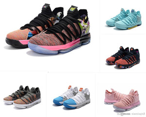 What the KD 10 mens basketball shoes for sale MVP Floral black CityEdition Aunt Pearl Kevin Durant X low kids boots with box