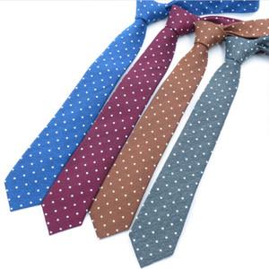 Mens Cotton Dot Ties for Men Fashion Neck Tie Classic Man Slim Necktie Gift Wedding Business Suit Designer Handmade Formal Tie