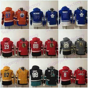 Jeunes enfants Hoodie 91 John Tavares 88 Brent Burns, 97 Connor McDavid 19 Jonathan Toews Hockey Jersey Sweat-shirts