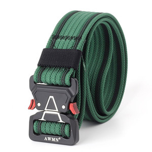 2019 High Quality Cheap Army Combat Tactical Waist Belts Jeans Cowboy Nylon Belts with New Designed Quick Release Buckle