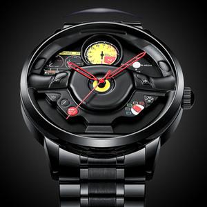 Relogio Masculino Nibosi 2020 새로운 맞춤 디자인 자동차 림 허브 남자 시계 탑 럭셔리 방수 스포츠 쿼츠 시계 남자 패션