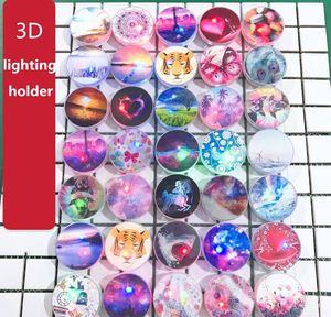 lighting phone stand Holder bracket for iphone universal LED light cartoon mobile phone bracket Christmas gifts