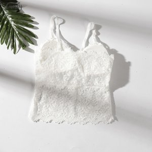 Lace Women Beauty Strap Sexy Camis Chest Pad Summer Crop Tops Sexy Gathered Push Up Bra Women Camisole Tank Tops