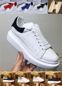 New Season Fashion Designer de sapatos de luxo Mulheres Sapatos de couro dos homens ata acima Platform Oversized Sole tênis branco preto tênis de corrida