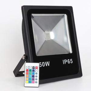 Dim Açık Renk Remote10W-200W IP65 su geçirmez Dış Güvenlik RGB Taşkın Işık, Dış Yatay Accent Işık ile Lights Değişen