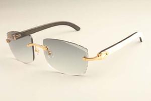 Nova fábrica direta de luxo de moda óculos de sol luz ultra 3524015-I chifres mistos naturais apontou óculos de sol pernas espelho gravura óculos de sol