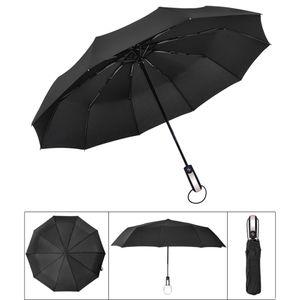 새로운 바람 저항하는 완전 자동 3 접는 우산 남성 상업 작고 큰 강한 프레임 Windproof 10Ribs 우산