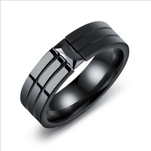 mens rings hip hop jewelry hot rings personality ring set with diamond and titanium steel ring