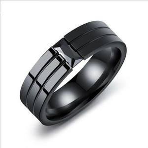 Uomo Anelli gioielli hip hop anelli calda personalità set anello con diamanti e anello di titanio acciaio