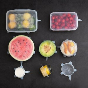 Collapsible Cover Silicone Fruit Vegetables Colander Strainer Washing Basket Folding Microwave Plate Lid Kitchen Tools