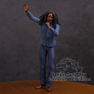 밥 말리 음악 전설 자메이카 가수 마이크 합성 수지 액션 피겨 소장 모델 장난감 18cm C19041501