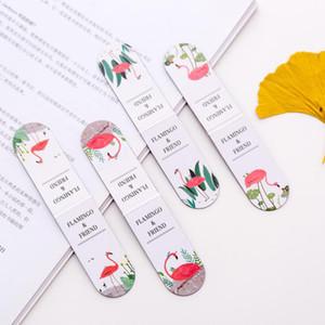 Criativa bonito Flamingo Magnet Bookmark Conta Student Multi-Function Mão Paginada Magnetic Stationery Bookmark Infantil