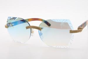 Decoração de madeira do frame óculos 3524012 pavão madeira sem aro dos óculos de sol projeto 2020 Hot venda meio frame óculos de sol ao ar livre copos de condução