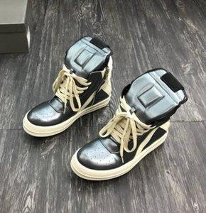 Ss Toe und ausgetauscht Original-TPU-Sohle High Top-echtes Leder-Sneaker Trainer Rick Boots Outdoor-Schuhe