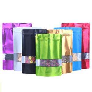 Закуска Seal мешок алюминиевой фольги Пластиковый мешок пакет с окном Красочные Multi-размера еды Snack Чай сумка хранения