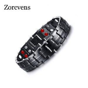 Modyle Mens 361L in acciaio inox germanio Balance energia magnetica Potenza Salute braccialetti dei braccialetti