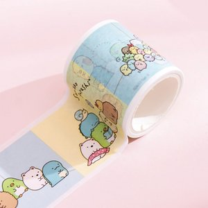 2016 Big Corner Creatures Paper Tapes Cartoon Biological Modeling Adhesive Tapes Pink and Blue Decorative Beautification Album Diary