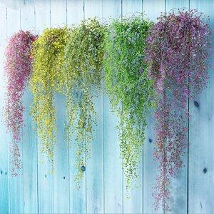 Yapay Bitki Vines duvar asılı yeşil bitki Chlorophytum dekoratif PVC Simülasyon bitkiler sahte Çiçek rattan orkide