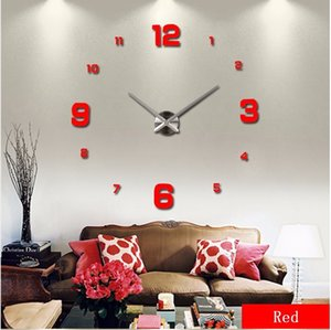 2020 muhsein grand bricolage Horloge murale Acrylicl Miroir horloge numérique horloge murale 3D Digital Wall personnalisés Horloges Livraison gratuite