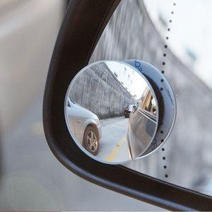 2pcs carro auxiliar Espelho Retrovisor Blind Spot redonda pequena rotativa Espelho Para Smart 453 451 fortwo forfour Universal Acessório