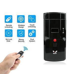 Wafu 2019 mais novo Invisible Porta Bloqueio eletrônico Controle remoto sem fio Opeing Com circuitos duplos desbloqueado para Home Security