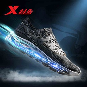 982119119528 XTEP 2018 Nuevo diseño Air suela Damping Mesh Athletic Training Sneakers ball Hombres Running Shoes