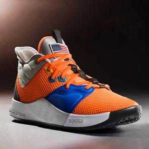 2019 Paul George PG 3 3S PALMDALE III P.GEORGE Мужские баскетбольные кроссовки PG3 Starry Синий Оранжевый Черный Спортивные кроссовки-корзины Des Chaussures