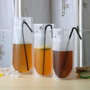 يختم شفافة صلاة الحقائب واضح المشروبات حقيبة متجمد الذاتي القهوة حليب عصير شرب أكياس بلاستيكية البلاستيك المحمولة