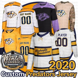 Nashville Predators 2020 invierno clásico Jersey Pekka Rinne Ryan Ellis romana Josi Filip Forsberg Matt Duchene Craig Smith jerseys del hockey