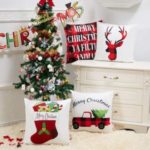 Бросьте наволочка 18x18 Рождество наволочка набор из 4 чехлы для дома автомобиля Декоративные