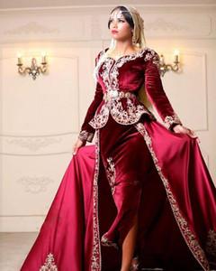 Roben de Kaftan Abaya Dubai Promkleider Wear Schatz mit langen Ärmeln Mermaid Frauen-Abend-Kleid-formalen Kleid-Partei-Kleider