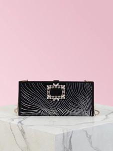 venta caliente 2020 nueva llegó broche de calidad superior bolso de noche material de las olas de las mujeres cristalinas Shain embrague bolsa de dama de la moda bolsas de hombro