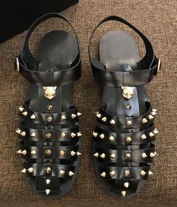 Salto Hot Sale-Orignal planas sandálias de couro genuíno Beach Party Arrefecer chinelo Sapatos 38-45