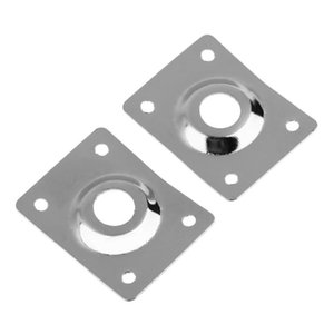 2pcs Rectangular Dented Metal Output Jack Plates for Electric Guitar Bass Accessories Gold Silver Black