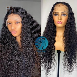 30 inch Full Lace Wigs Remy Deep Wave Curly hd Frontal Brazilian 180 Density Preplucked Afro Long Human Hair Wigs for Black Women