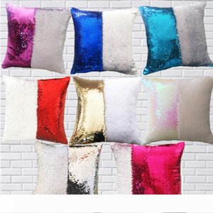 DHL Mermaid Pillow Cover Sequin Pillow Cover sublimation Cushion Throw Pillowcase Decorative Pillowcase That Change Color Gifts for Girls