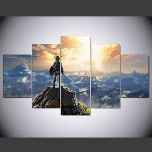 Legend of Zelda Breath of the Wild -1,5 pezzi HD stampa su tela nuova decorazione della casa arte pittura / senza cornice / incorniciato