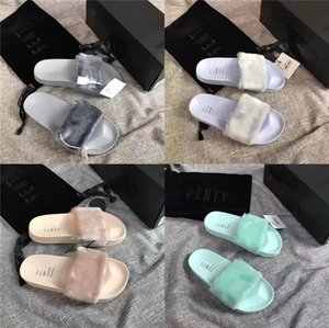The Latest Design Of Soft And Ffy Indoor Fur Slippers In 2020#826